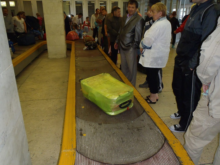 Magadan airport luggage