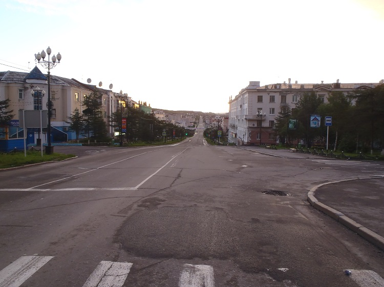 Magadan in the morning