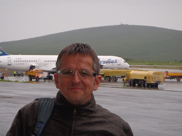 Mark at Magadan airport