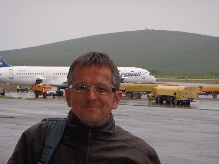 Mark at Magadan airport